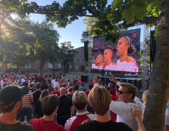 Landskamp – Storskærm Mariaparken 2018